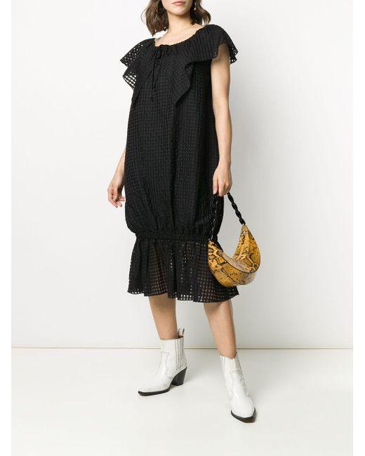 Pushbutton ショートスリーブ ドレス Black
