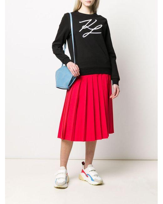 Толстовка С Вышивкой Karl Lagerfeld, цвет: Black