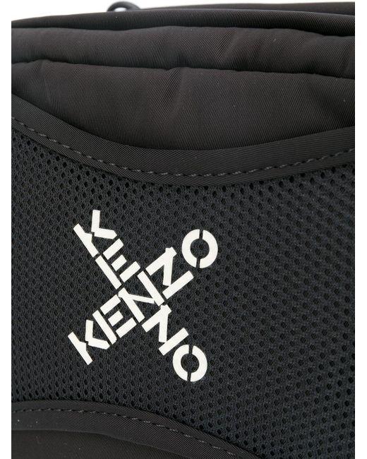 メンズ KENZO ロゴ カメラバッグ Black