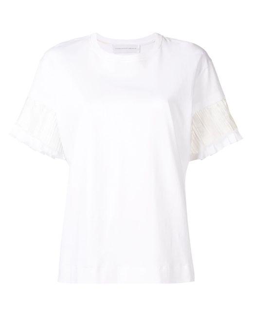 Victoria, Victoria Beckham プリーツ Tシャツ White
