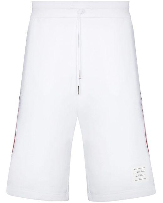 Спортивные Шорты С Лампасами Thom Browne для него, цвет: White