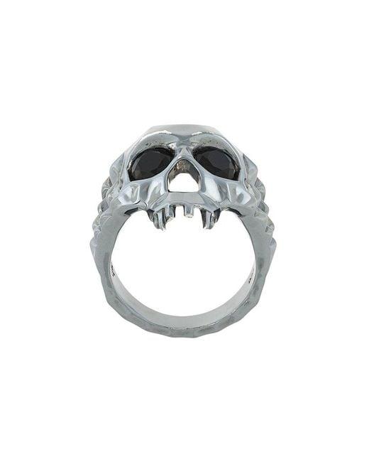 Kasun - Metallic Vampire Skull Ring for Men - Lyst