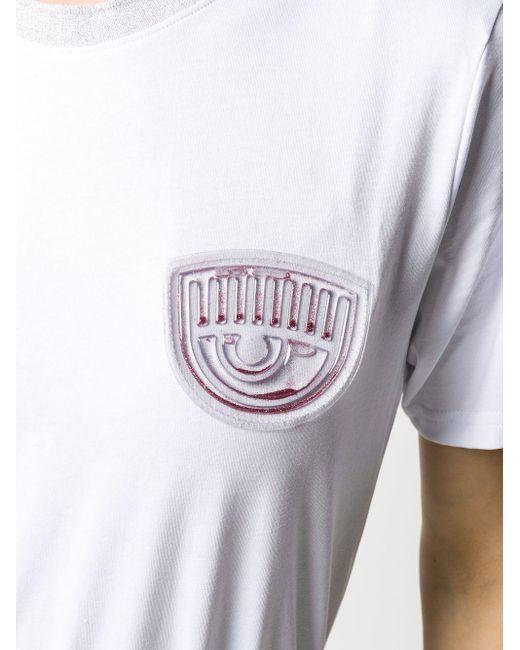 Chiara Ferragni Flirting パッチ Tシャツ White