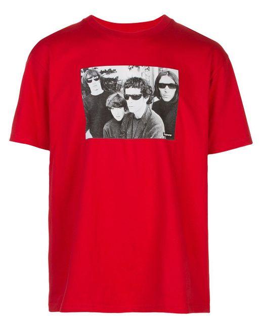メンズ Supreme The Velvet Underground Tシャツ Red
