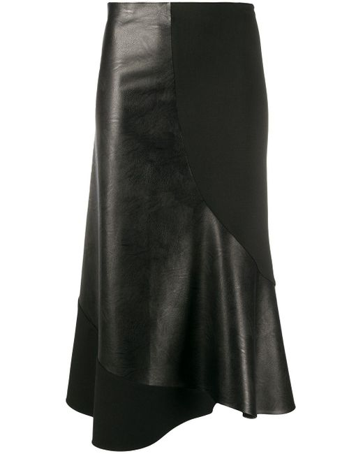 Stella McCartney Black Ruffled Midi Skirt