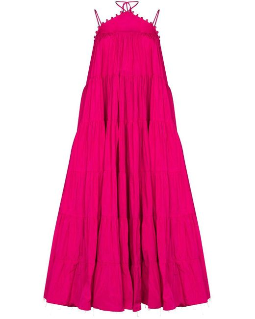 16Arlington Pink Fulda Strappy Midi Dress