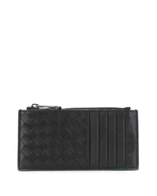 メンズ Bottega Veneta イントレチャート カードケース Black