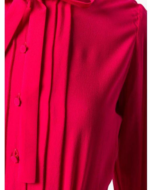 Golden Goose Deluxe Brand タイフロント プリーツドレス Pink