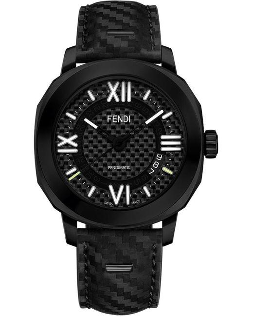 メンズ Fendi セレリア 腕時計 Black