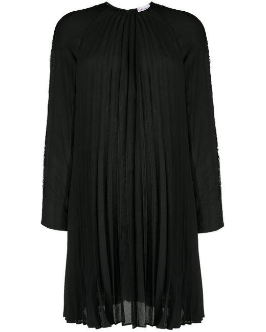 Плиссированное Платье-трапеция RED Valentino, цвет: Black