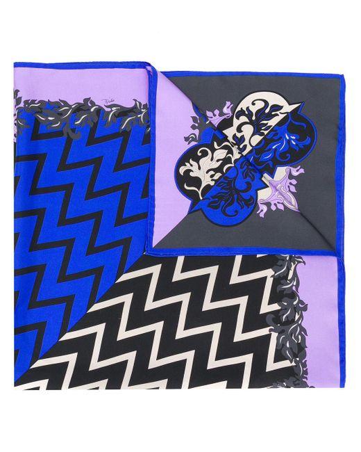 Платок С Принтом Emilio Pucci, цвет: Black