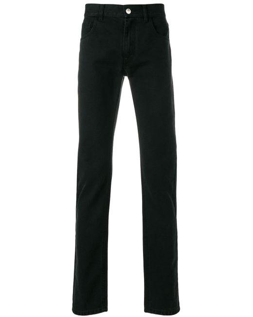 Jeans stampati di Raf Simons in Black da Uomo