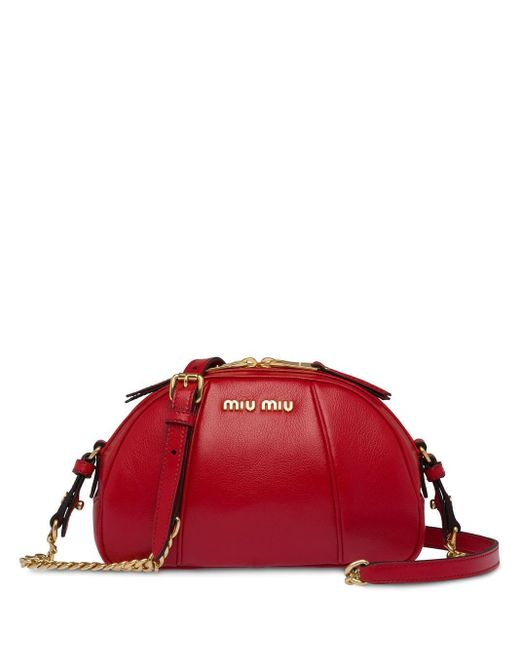 Miu Miu Glacé ショルダーバッグ Red