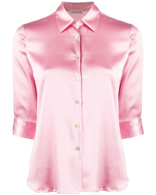 Blanca Vita Camilla シルクシャツ Pink