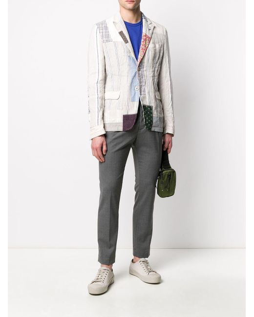 メンズ Junya Watanabe パッチワーク ジャケット Multicolor