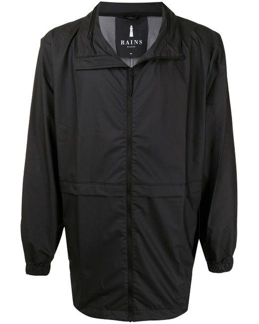 Легкая Куртка На Молнии С Воротником-стойкой Rains для него, цвет: Black