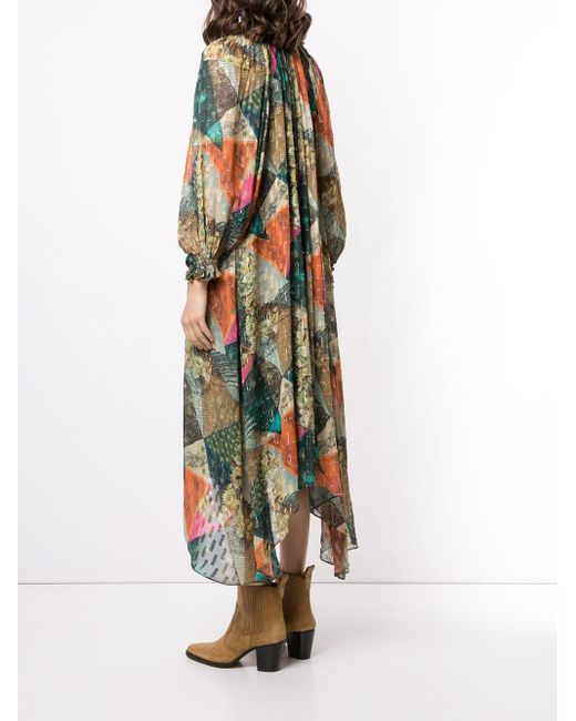 Chufy アブストラクトパターン ドレス Green