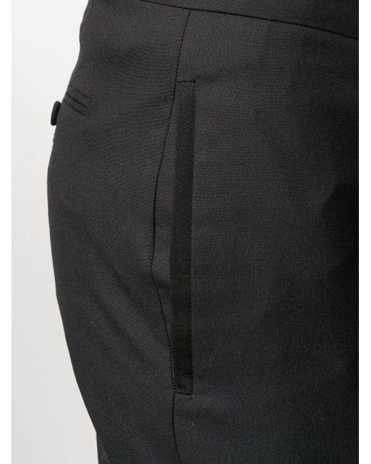 メンズ Thom Browne ブラック 平織スーチング スキニー4bar トラウザー Black