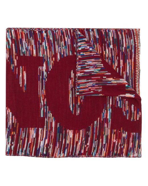 Missoni ロゴ スカーフ Red
