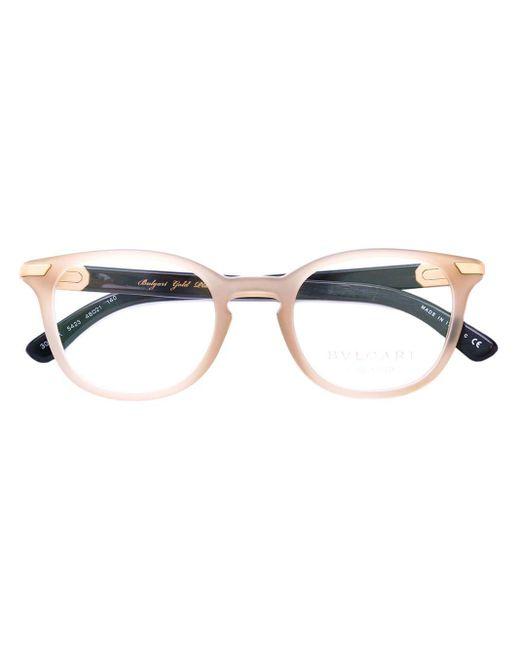 メンズ BVLGARI ラウンド眼鏡フレーム Multicolor