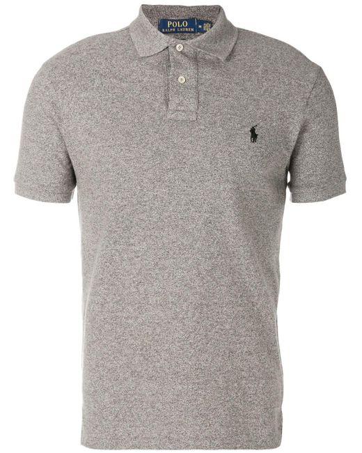 メンズ Polo Ralph Lauren ロゴ ポロシャツ Gray