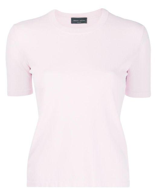 Roberto Collina Camiseta de jersey de mujer de color rosa nhSXU