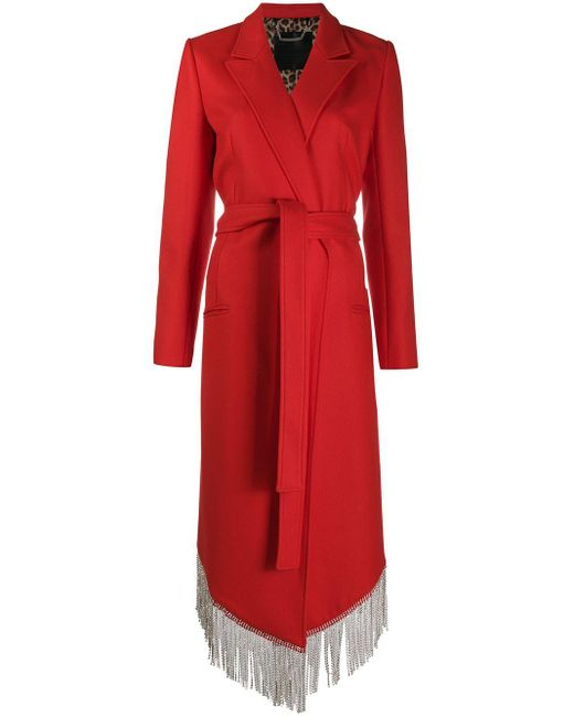 Пальто Nara С Бахромой Из Кристаллов Philipp Plein, цвет: Red