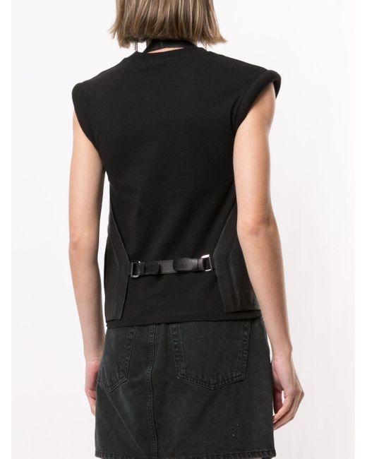 Hermès プレオウンド レザーベスト Black