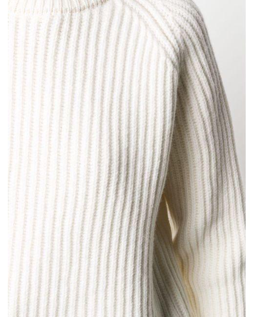Haider Ackermann リブニット セーター White