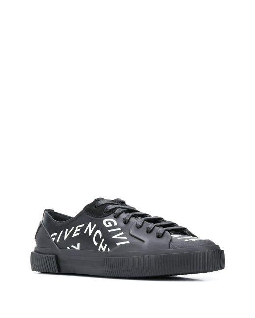 メンズ Givenchy Tennis Light ローカット スニーカー Black