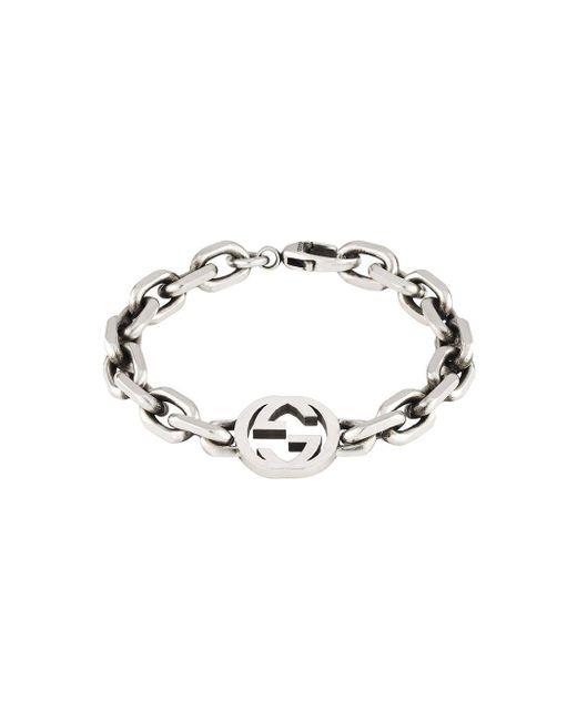 メンズ Gucci 【公式】 (グッチ)インターロッキングg ブレスレット スターリングシルバーundefined Metallic