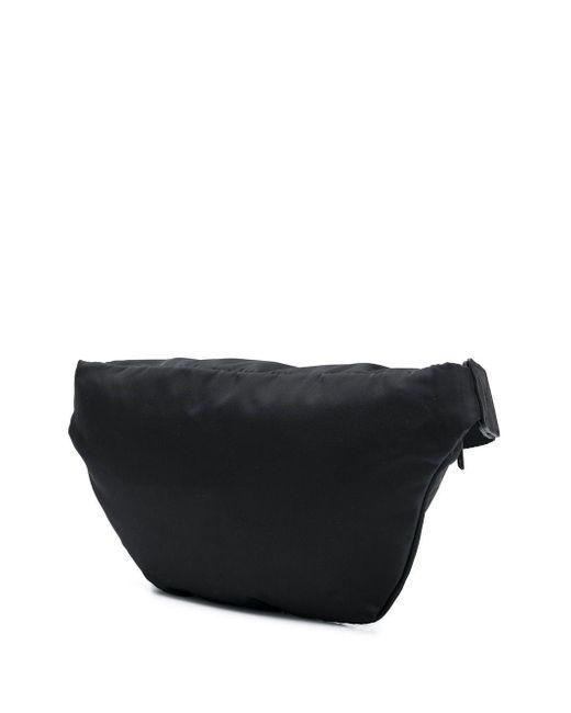DIESEL Black Logo Print Belt Bag for men