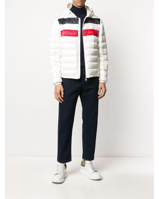 Куртка-пуховик На Молнии Moncler для него, цвет: White