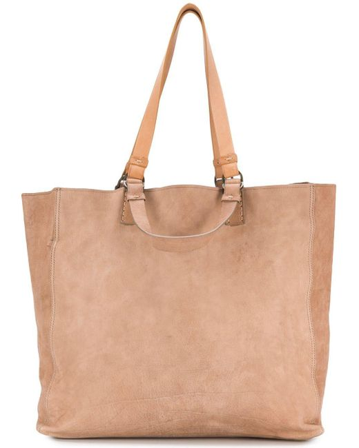 Officine Creative Brown Classic Shoulder Tote