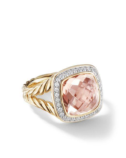 David Yurman Metallic 18kt Yellow Gold Albion Morganite And Diamond Ring
