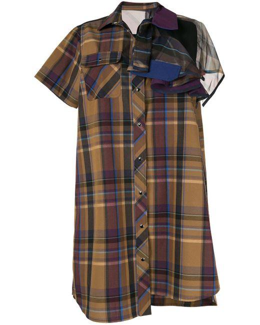 Sacai チェック ドレス Multicolor