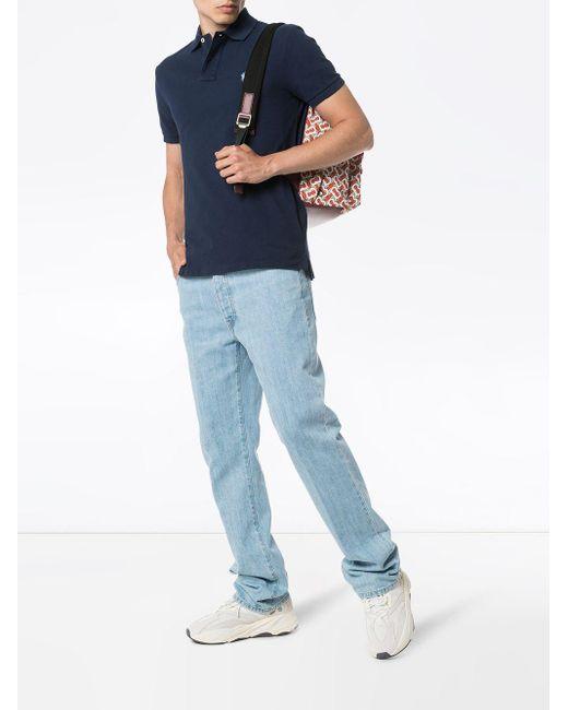 メンズ Polo Ralph Lauren ロゴエンブロイダリー ポロシャツ Blue