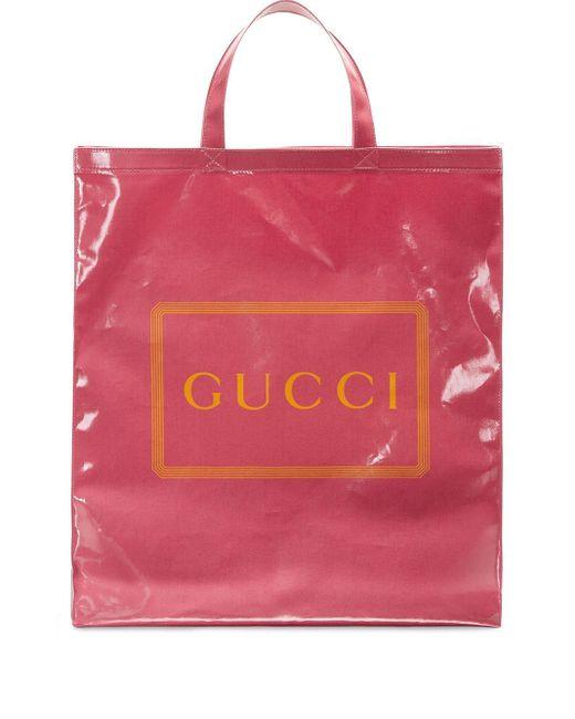 メンズ Gucci プリント トートバッグ M Multicolor