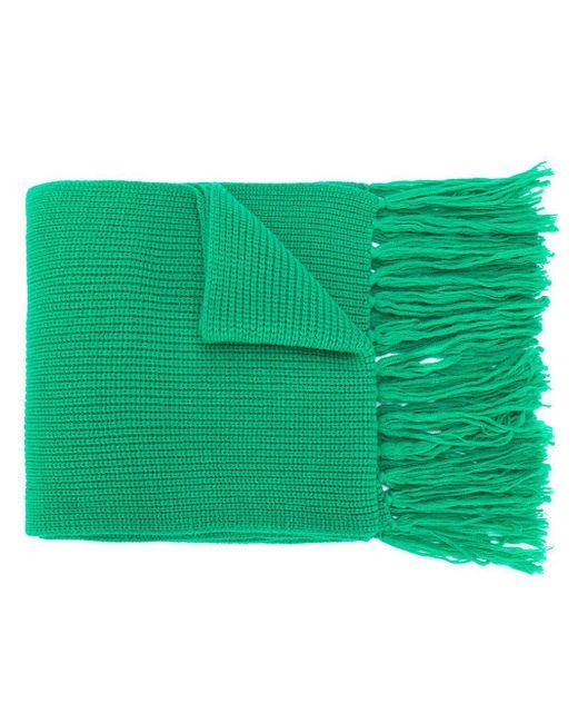 メンズ AMI フィッシャーマンリブ スカーフ Green