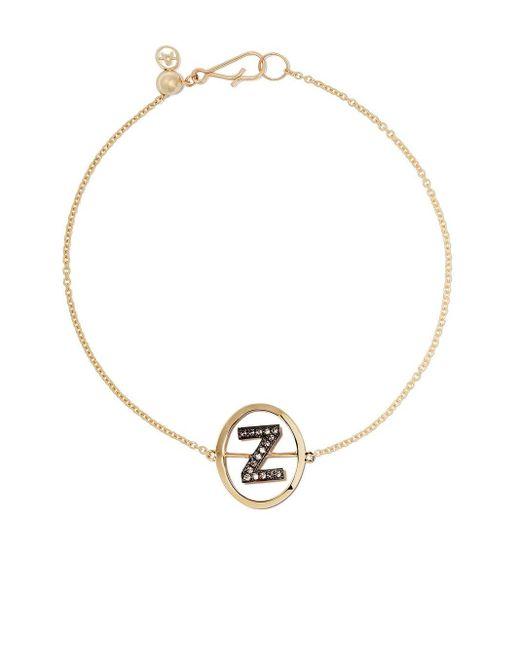 Annoushka Z ダイヤモンド ブレスレット 18kイエローゴールド Metallic