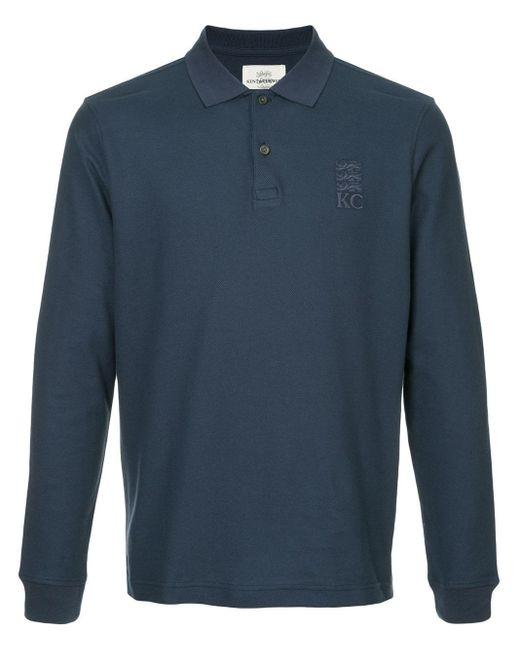 メンズ Kent & Curwen ロゴエンブロイダリー ポロシャツ Blue