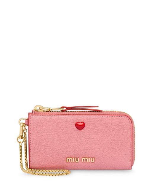 Miu Miu マドラス ラブ 財布 Pink