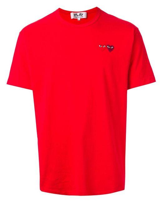 メンズ COMME DES GARÇONS PLAY ハート Tシャツ Red