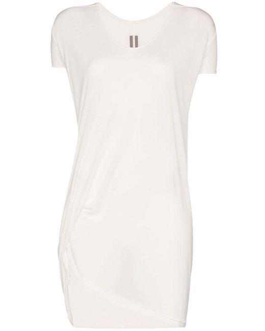 Rick Owens ドレープ Tシャツ White
