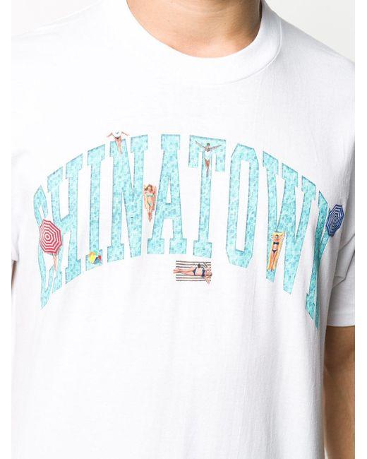 メンズ Chinatown Market プリント Tシャツ White