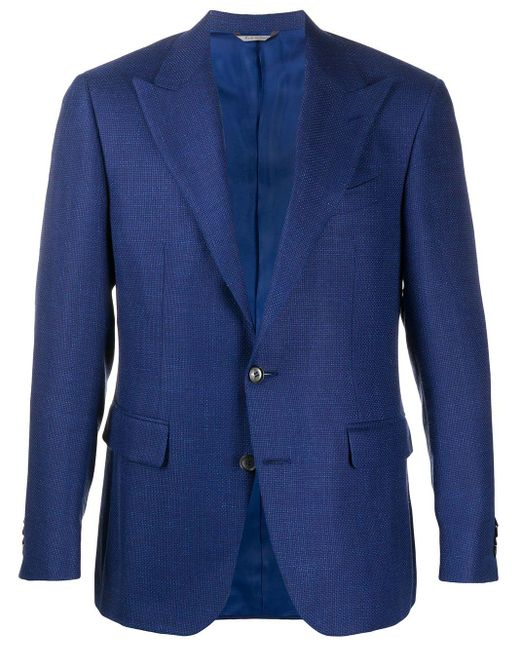 メンズ Canali シングルジャケット Blue