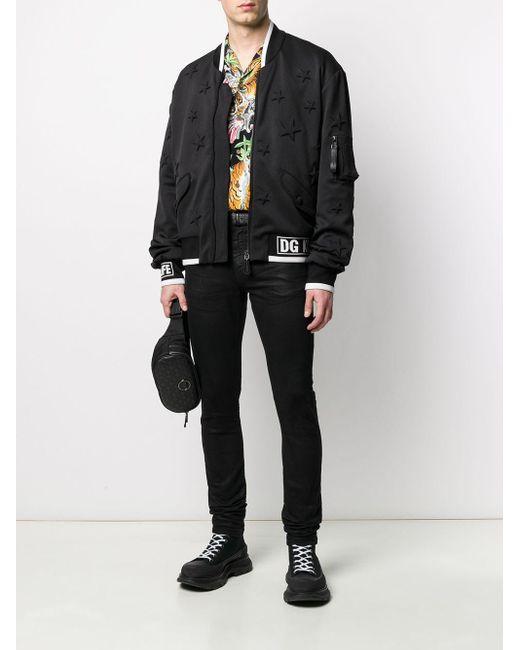 メンズ Dolce & Gabbana スター ボンバージャケット Black