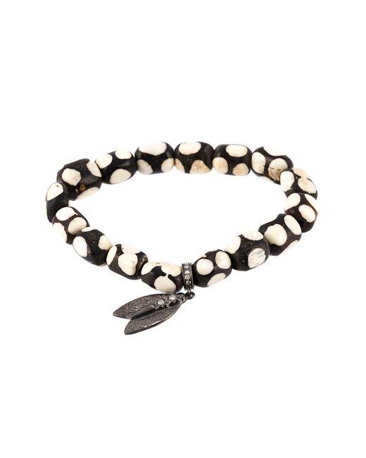 Loree Rodkin - White Beaded Diamond Wing Bracelet - Lyst
