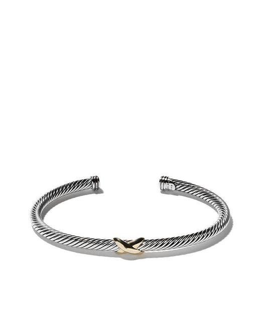 David Yurman - Metallic 18kt Yellow Gold X Silver Cuff Bracelet - Lyst