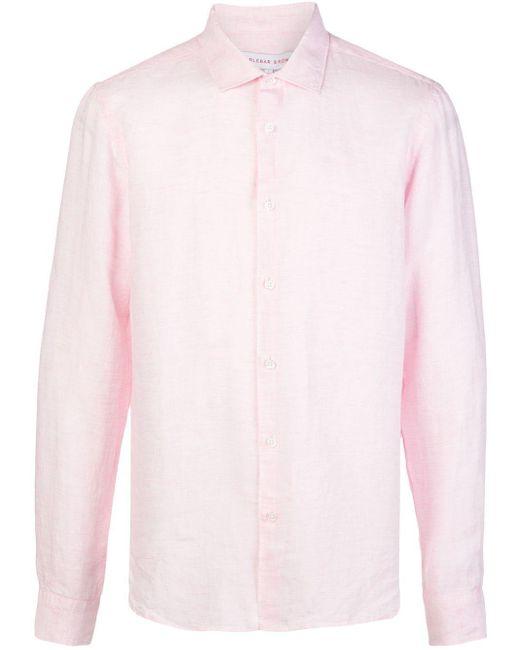 メンズ Orlebar Brown Giles ロングスリーブ シャツ Pink